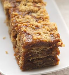 Dulce de Leche Bars feature rich dulce de leche between layers of sweet, buttery crust. Delicious! - Bake or Break