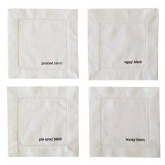 Boozy Cocktail Napkins