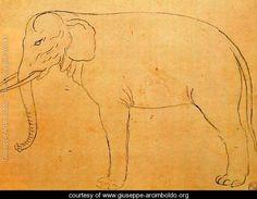 Drawing of an elephant - Giuseppe Arcimboldo - www.giuseppe-arcimboldo.org