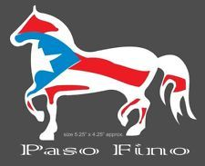 Puerto Rico Horse Paso Fino Flag Sticker Decal Mi Orgullo Caballo