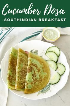 Cucumber dosa recipe is made with cucumber, rice, coconut, and jaggery. This dosa does not need any fermentation. #dosa #vegan #indianfood #breakfast