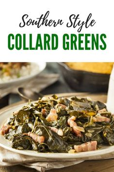 Southern Style Collard Greens Southern Style Collard Greens Recipe - a new year's day meal tradition to bring luck in the new year ahead Yummy Vegetable Recipes, Vegetable Side Dishes, Side Dish Recipes, Yummy Recipes, Aloo Recipes, Dishes Recipes, Milk Recipes, Copycat Recipes, Recipes Dinner