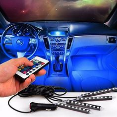 Pump your car with these cool LED lights with a remote control. Shop it at $19.99.