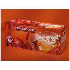 Té Rojo #pompadour #tiendaonline Saborearlo es un motivo de peso. Te rojo selecto de intenso sabor Infusión 100% natural, el Té Rojo de los incondicionales por aroma y textura. Sabor recio e intenso, que queda en el paladar, de unas hojas fermentadas cuidadosamente.