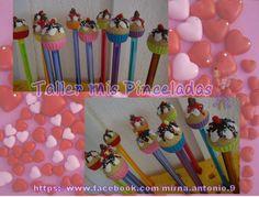 plumas decorado con cup cakes
