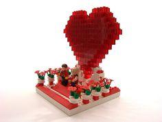 Lego Valentine 2009 #2 Lego Valentines, Lego Building, Legos, Cake, Desserts, Food, Tailgate Desserts, Lego, Deserts