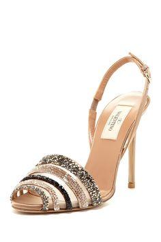 Valentino Embellished Mesh Sandals//