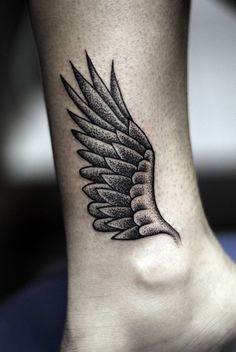 Wing Ankle Tattoo - 35 Breathtaking Wings Tattoo Designs