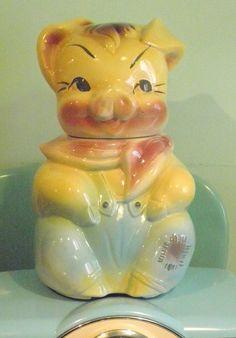 SALE American Bisque Cookie Jar 1950s Cookie by Sugarcookielady, $59.00