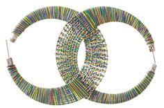 Ювелирные изделия DIY Учебник оживить Скучные Серьги с красочными пряжи - Мода Блог: DIY - наряды, обувь & Аксессуары