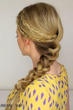 double braid braided hairstyle