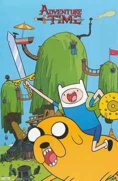 Adventure Time Land of Ooo Cartoon Poster 22x34
