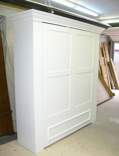 murphy bed with a board and batten treatment