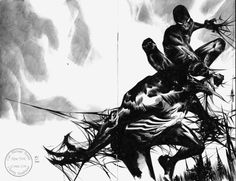 Spider-man vs Venom Custom Blank - Jae Lee Comic Art