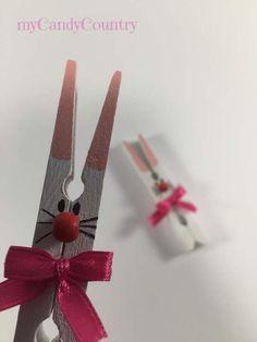 Riciclando mollette del bucato nascono i conigli pasquali fai-da-te Regalo  Per Pasqua 5252115dcaf2