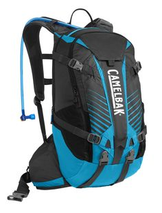 CamelBak 2016 K.U.D.U. 18 Hydration Pack, Charcoal/Atomic Blue. A lightweight and streamlined Enduro pack with integrated back Protection, 18 liters of cargo and armor carry. Antidote reservoir features Quick Link system, easy open/close cap, lightweight fill port, Dryer arms, center baffling and low-profile design. Features impact protector, full-face helmet carry, load-bearing waist belt with pockets, rain cover, bike tool organizer roll, dual sternum strap. Designed to carry helmet…