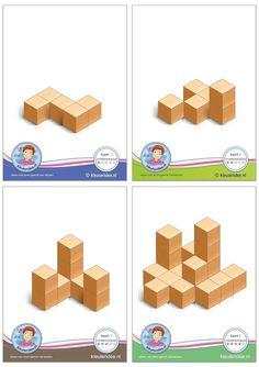 Visual Learning for Life: Building Blocks Learning For Life, Visual Learning, Preschool Learning, Math Games, Math Activities, Block Center Preschool, Visual Perceptual Activities, Numicon, Montessori