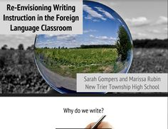 Re-envisioning Writing Instruction in the Foreign Language Classroom, presented by Sarah Gompers and Marissa Rubin World Languages, Foreign Languages, New Trier, Central States, Classroom Tools, Classroom Language, Professional Development, Teaching Resources, High School