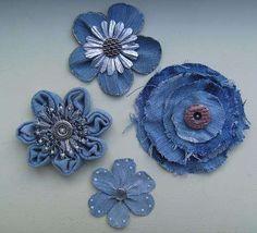 @:  jeans flowers