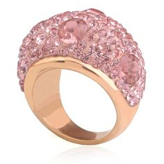 Rose Gold-Color Stainless Steel Women Ring Gift Accessories Romantic Austrian Pink Crystal Engagement Rings for Women Jewelry _ {categoryName} - AliExpress Mobile Version - Crystal Engagement Rings, Engagement Jewelry, Crystal Ring, Crystal Jewelry, Party Rings, Gold Plated Rings, Stainless Steel Jewelry, Rose Gold Color, Jewelry Gifts