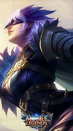ML Wallpaper - Natalia Phantom Dancer Heroes Assassin of Skins Starlight Ashe League Of Legends, Champions League Of Legends, Mobile Legend Wallpaper, Hero Wallpaper, Game Character, Character Design, Miya Mobile Legends, Alucard Mobile Legends, Legend Games