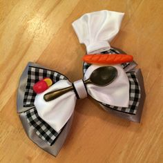 Ratatouille inspired bow by SheMakesGlamour on Etsy