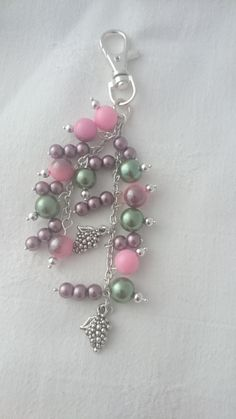 Wine lovers bag decoration, bag charm, purse charm, - pinned by pin4etsy.com