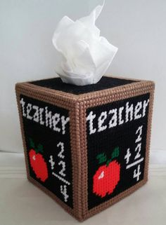 Check out this item in my Etsy shop https://www.etsy.com/listing/258362142/teacher-tissue-box-cover