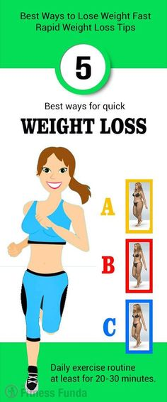 Best Ways to Lose Weight Fast – Rapid Weight Loss Tips