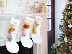 DIY Holiday Christmas Stocking Tassel & Pom-poms Anthropologie