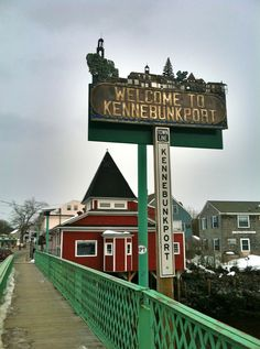 Welcome to Kennebunkport Sign