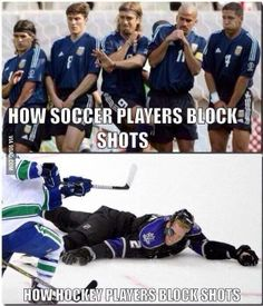 when someone tells you hockey is just soccer on ice show them this and tell them to go F off xD. difference between hockey and soccer. hockey players are bad ass and soccer players are pussies Funny Hockey Memes, Hockey Quotes, Baseball Memes, Hockey Games, Hockey Players, Montreal Canadiens, Stanley Cup, Descente Ski, Protection Moto