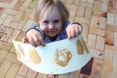 Sand painting craft with kids.