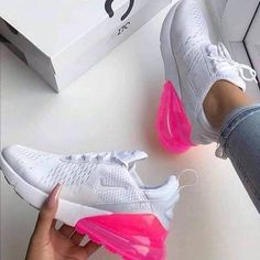 Nike air / girls / get yours now ! Order here for Sale in San Mateo, CA - OfferUp Tennis Shoes Outfit, Nike Tennis Shoes, Sneakers Nike, Sneakers Fashion, Cute Nike Shoes, Cute Nikes, Pink Nike Shoes, Shoes Jordans, Air Max 97