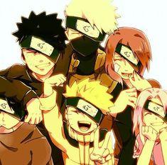 naruto y sasuke y sakura y kakashi shippuden Naruto Team 7, Naruto Kakashi, Anime Naruto, Naruto Uzumaki Shippuden, Naruto Comic, Gaara, Team Minato, Naruto Cute, Naruto Family