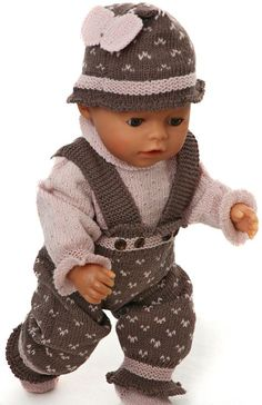 Baby Knitting Pattern Knit puppetry with knitting instructions Knitting Dolls Clothes, Crochet Doll Clothes, Knitted Dolls, Doll Clothes Patterns, Knitting Socks, Baby Knitting Patterns, Crochet Patterns, Girl Dolls, Baby Dolls