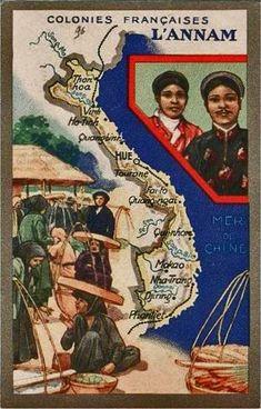 Carte des régions vietnamiennes d'Indochine