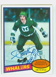 37f41137b Gordie Roberts AUTO 1980-81 Topps Whalers by Regular Topps Issue.  5.00.  This card was signed by Gordie Roberts and authenticated by JSA - a leading  3rd ...