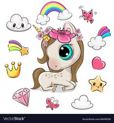Unicorn Pictures, Unicorn Images, Unicorn Horse, Unicorn Art, Colorful Drawings, Cute Drawings, Cartoon Mignon, Wonder Woman Drawing, Horse Template