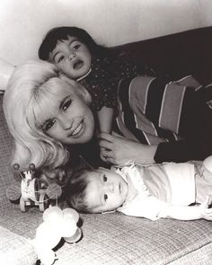 Baby Mariska Hargitay with Mom Jayne Mansfield