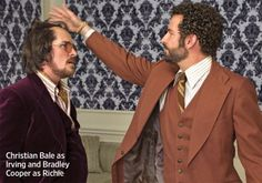 Christian Bale and Bradley Cooper in American Hustle by David O. Russell