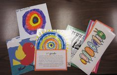Organize art lessons with examples and student samples for: portfolios, things to try, and things to do again.