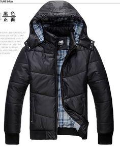 Detachable Zipper Slim Casual Men Polyester Black Coat L/XL/XXL/XXXL @EH35537b