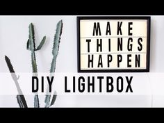 DIY LED Light Box – Ann Le Style