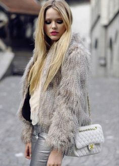 Grey faux fur coat | Fabulous Faux Fur Coats | Pinterest | Fur ...