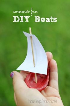 Summer Crafts for Kids ~ DIY Wax Boats.  Can you guess where we discovered our FREE wax?
