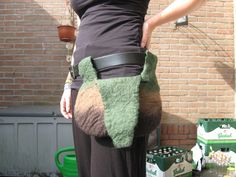 Wet felted bag Textile Art, Felting, Fiber Art, Macrame, Textiles, Lifestyle, My Love, Bags, Atelier