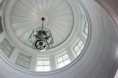 Architecture by Brooks & Falotico Traditional Windows, Fantasy Rooms, Ceiling Detail, Entry Foyer, Residential Architecture, Architecture Details, Beams, New Homes, Ceiling Lights