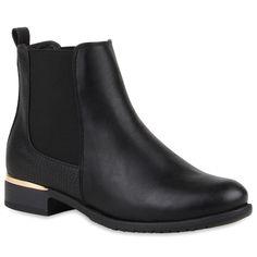 Damen-Stiefeletten-Chelsea-Boots-London-Style-Schuhe-77911-New-Look