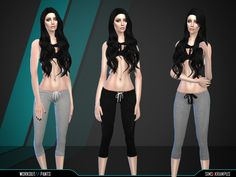 This is a set of work out pants that can be found under your accessories, leggings.  Found in TSR Category 'Sims 4 Female Clothing Sets'